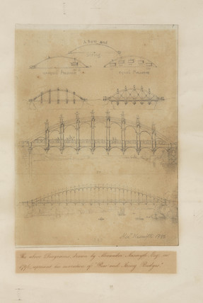 Bow and string girder bridge, 1796.