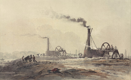 Construction of the outer dock at Southampton, 1841.