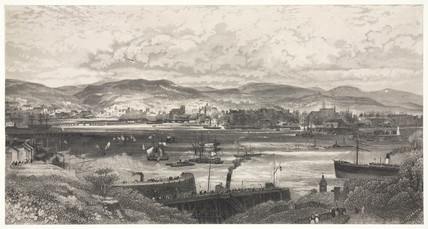 Cardiff Bay and Docks, Wales, late 19th century