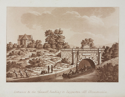 'Entrance to the Tunnell leading to Sapperton Hill, Gloucestershire', 1792.