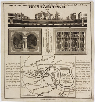 'The Thames Tunnel', London, 1827.
