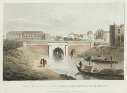 'West Entrance to the Tunnell, Regent's Canal, Islington', London, 1822.