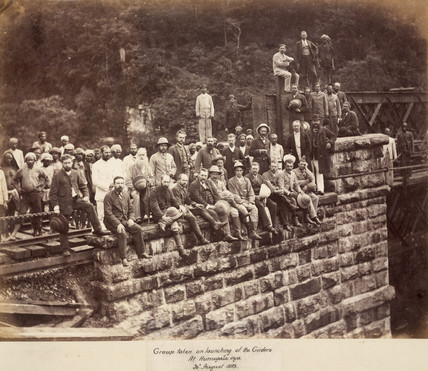 Workers on the Nanu Oya Extension Railway, Ceylon, August 1883.