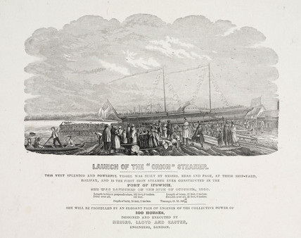 'Launch of the 'Orion' Steamer', 1840.
