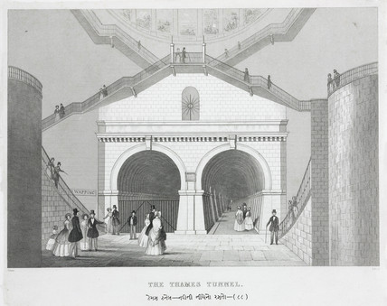 'The Thames Tunnel', London, c 1845.