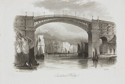 'Sunderland Bridge', Tyne & Wear, 1841.