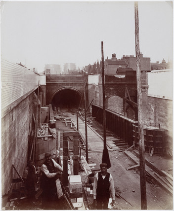 Construction of the Rotherhithe Tunnel, London, 1906.