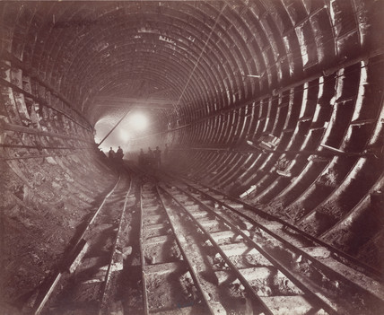 Construction of the Rotherhithe Tunnel, London, 1907.