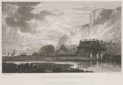 'Lime Kilns at Northfleet', Kent, 19th century.