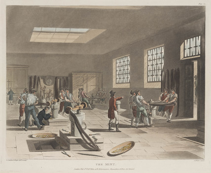 'Coining preses in the Tower Mint', London, 1809.