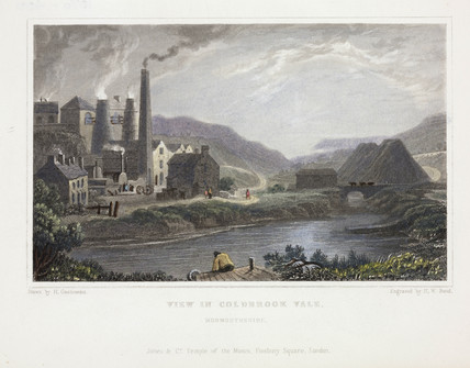 View in Coldbrook Vale, Monmouthshire, c 1835.