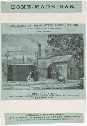 'Gas works at Sulhamstead House', Reading, Berkshire, 19th century.
