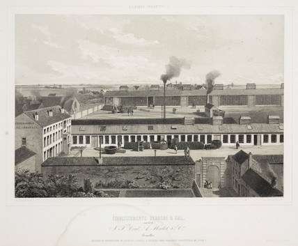 Factory of Derosne & Cail, Brusels, 1830-1860.