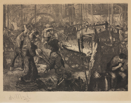 'The Foundry', 1883.