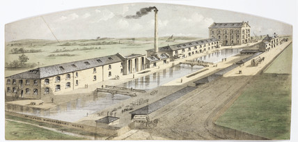 George Spills & Co's Waterproofing Works, c 1845.
