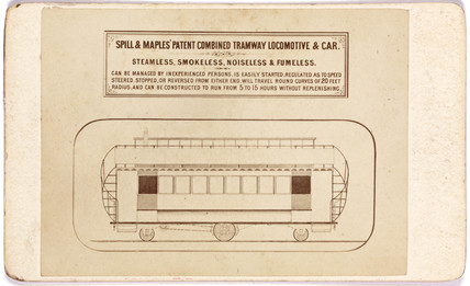 Spill & Maples's combined tramway locomotive and car, 1873-1874.