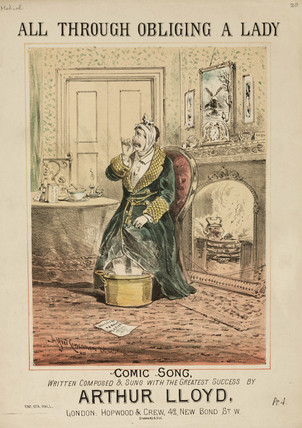 'All Through Obliging a Lady', 19th century.