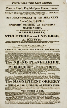 Lecture on ouranologia and the structure of the universe, London, 1822.