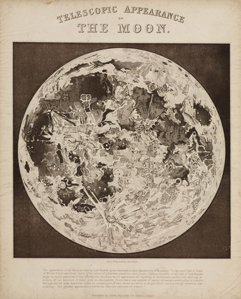 'Telescopic Appearance of the Moon', c 1851.