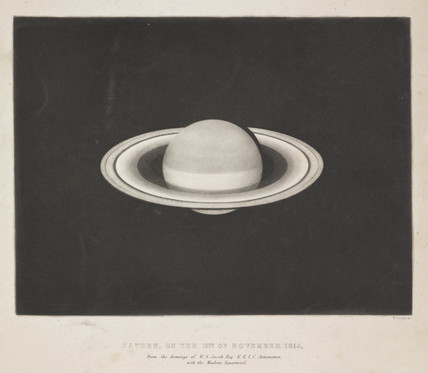 Print of the planet Saturn, 15 November 1852.
