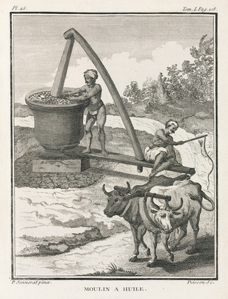 Oil mill, India, 1774-1781.