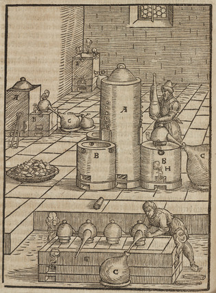 Preparation of the liquid used to extract silver from gold, 1580.