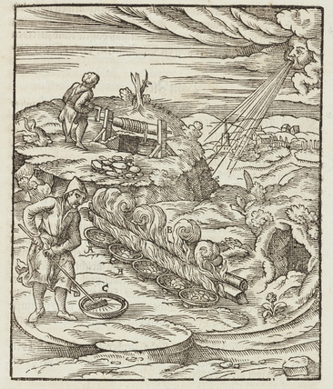 Smelting of bismuth, 1580.