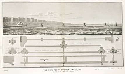 'The Chain Pier at Brighton, January 1825'.