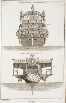Poops of two ships, 1769.