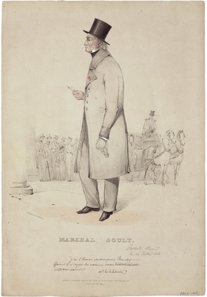 Nicolas-Jean de Dieu Soult, French general, 1838.