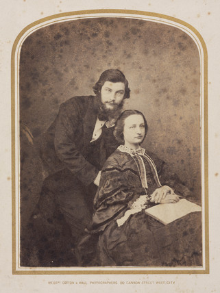 Sir William Henry Perkin, English chemist, and his wife Jemima, c 1860.