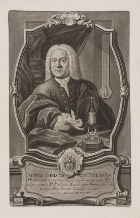 Samuel Christian Hollmann, profesor of philosopy, c 1740s.