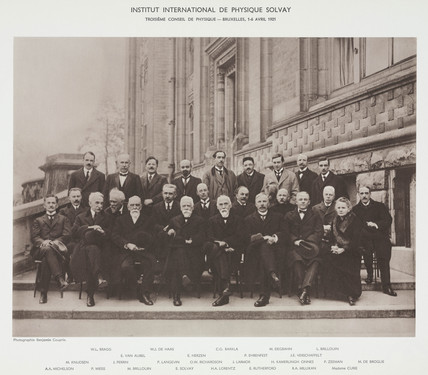 Third Solvay Physics Conference, Brusels, 1921.