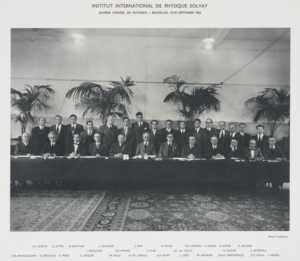 Tenth Solvay Physics Conference, Brussels, 1954.