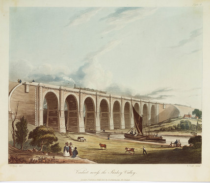 'Viaduct acros the Sankey valley', 1831.