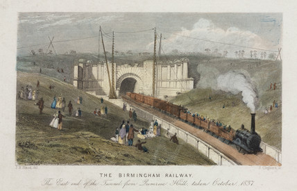 The east end of the Primrose Hill tunnel, London, October 1837.