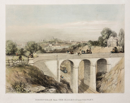 'Birmingham from the Railroad near Saltley', 1837.