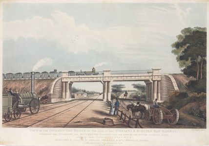 'View of the Intersection Bridge on the St Helen's to Runcorn Gap Railway', 1832.