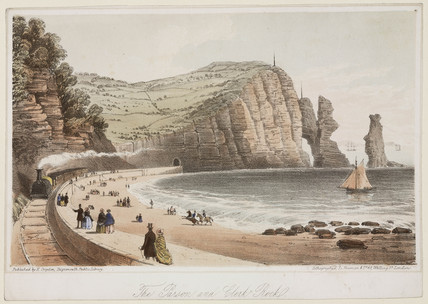 'The Parson and Clerk Rock', Devon, 1831.