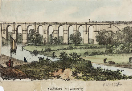 'Sankey Viaduct', mid 19th century.