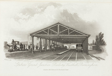 'Station Grand Junction Railway, Vauxhall, Birmingham', 1841.