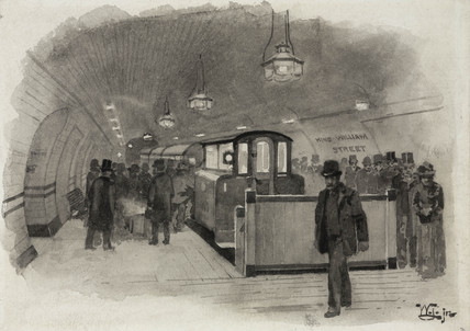 King William Street Station, City and South London Tube Railway, 1890.