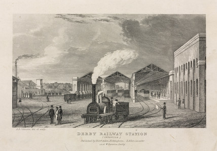 'Derby Railway Station (Interior)', 1840.