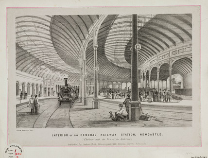 'Interior of the Central Railway Station, Newcastle', 1850.