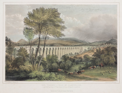 'Dee Viaduct - Vale of Llangollen', 1848.