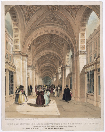 'Interior View of the Arcade beneath the Viaduct', 1836.