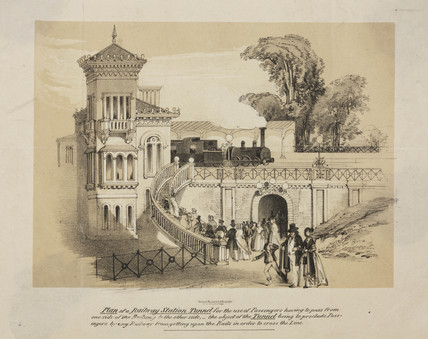 Plan for a railway station foot tunnel, 1845.