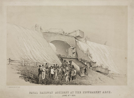 'Fatal Railway Accident at the Newmarket Arch' 6 June 1851.