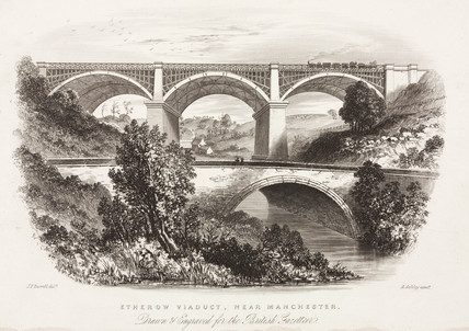 'Etherow Viaduct, near Manchester', 1851.
