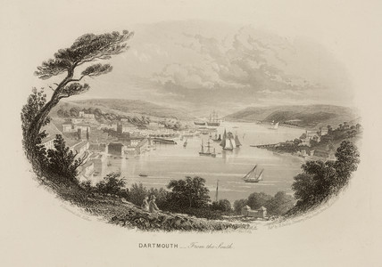 'Dartmouth - from the South', Devon, 1859.